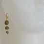 עגילים אגת זהובים   עגילים ארוכים   עגילים מעוצבים