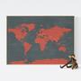 מפת עולם - בשילוב טריוויה