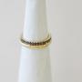 סט טבעות זהב - טבעת ענף דקה וטבעת אטרניטי יהלומים שחורים 14K