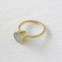 טבעת זהב קונוס עגול M