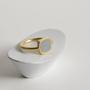 טבעת שטוחה ריבוע מעוגל זהב ובטון