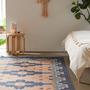 שטיח בוהו כחול נייבי