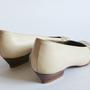 נעלי סירה צבע שמנת ופסים 30% הנחה | נעלי סירה מעוצבות משנות ה-70' מצרפת