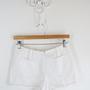 שורטס לבן סיקסטיז לאישה   מכנס קצר סיקטיז לבן שני כיסים   מכנס לבן וינטג' מקורי מידה S