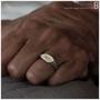 טבעת חתם מכסף וזהב