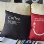כרית נוי - קפה