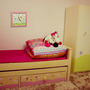שעון קיר לחדר הילדות -- ילדה מתוקה עם פרחים ❤