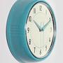 שעון קיר רטרו, שעון קיר טורקיז, שעון קיר תכלת, שעון למטבח