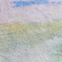 שטיח אבסטרקט בצבעי שקיעה, שטיח כותנה ומשי צבעוני
