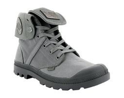 Palladium - נעלי פלדיום עור PALLABROUSE BAGGY L2 - בצבע אפור - Unique Shoes Bags