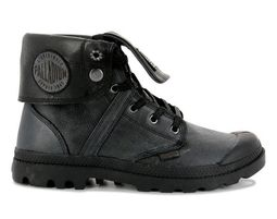 Palladium - נעלי פלדיום עור- PALLABROUSE BAGGY L2 - בצבע שחור - Unique Shoes Bags