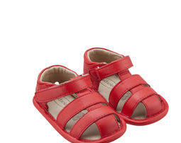 Shore Sandal - Red - נעלי עור