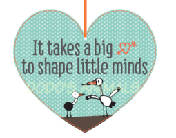 תליון לב - It takes a big heart to shaphe little minds - מתנות סוף שנה