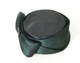 black pillbox hat, cocktail hat, event hat made in Israel, occasion hat for women - Pillbox Hat