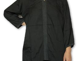 Womens V Neck Blouse with 3/4 Sleeve Casual Loose Shirt Black - Womens Shirt