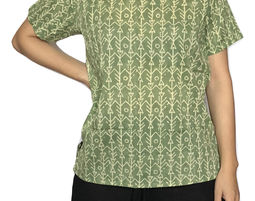 Womens Ethnic Print Short Sleeve Scoop Neck Tunic Top - Womens Shirt