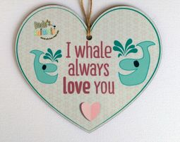 תליון לב - I Whale always love you - מתנות לטו באב