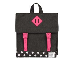 תיק גב | תיק גן | תיק גב הרשל | Survey Backpack Kids | Black Crosshatch Polka Dot Fandango Pink | Herschel - תיק גן