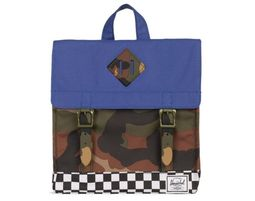 תיק גב | תיק גן | תיק גב הרשל | Survey Backpack Kids | Deep Ultramarine Checker Woodland Camo | Herschel - תיק גן