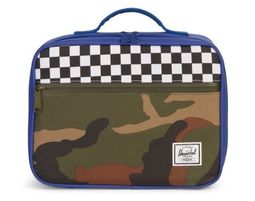 תיק אוכל | תיק תרמי | תיק אוכל הרשל | Pop Quiz Lunch Box | Deep Ultramarine Checker Woodland Camo | Herschel - תיק אוכל