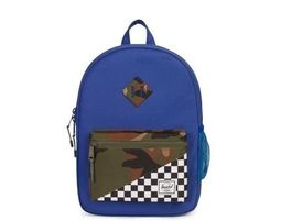 תיק גב | תיק לבית הספר | תיק גב הרשל | Heritage Backpack XL Youth | Deep Ultramarine Checker Woodland Camo | Herschel - Backpack Bag