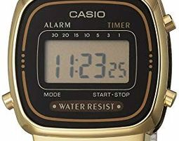 Casio Women's LA670WGA-1DF Daily Alarm Digital Gold-tone Watch - שעון מעוצב