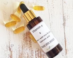 vitamin e - boost skin serum & natural hyaluronic acid - ויטמין אי