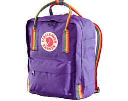 תיק גב ריינבואו סגול Kånken Mini Limited Edition - Fjällräven