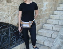 Cross-body Pouch / waist bag / פאוץי - Leather Bag
