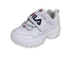 נעלי פילה לילדים בצבע לבן Disruptor II in white - FILA Disruptor II In White