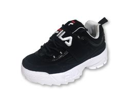 נעלי פילה לילדים בצבע שחור Disruptor II in black - FILA Disruptor II In White