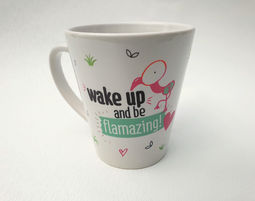 wake up and be flamazing -ספל - ספל