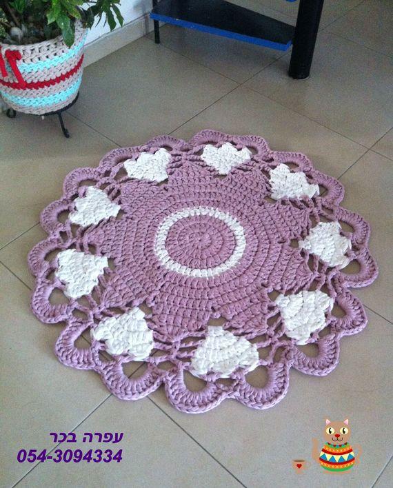 трикотажная пряжа коврик