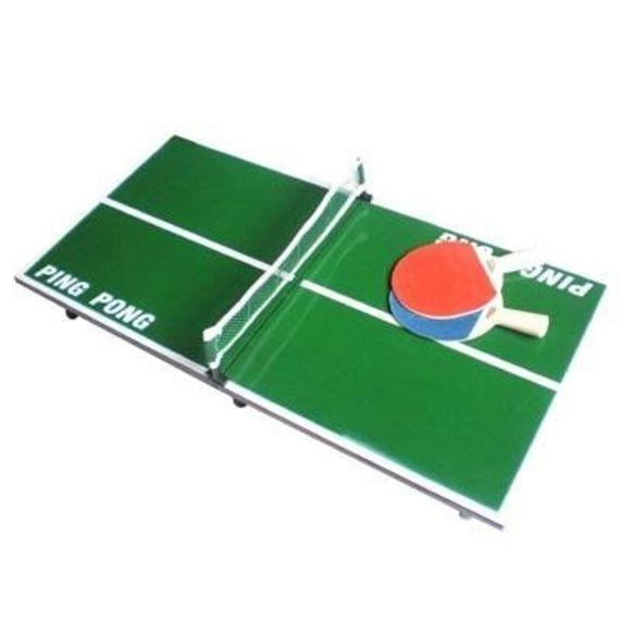 ברצינות מיני שולחן טניס פינג פונג כולל כדור רשת ושני מחבטים|מתנה למשרד YB-28