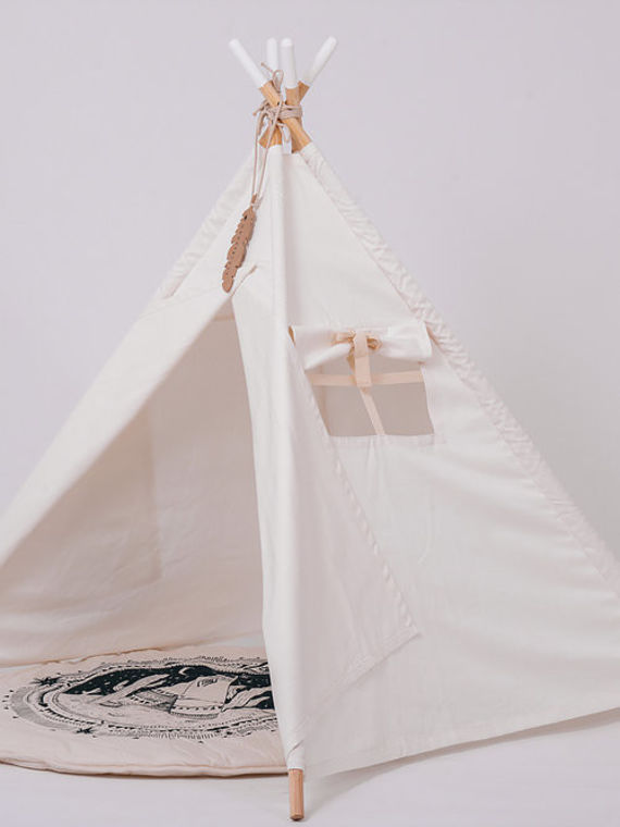 מפואר אוהל טיפי שחור, אוהל אורבני טיפי לילדים, אוהל משחק לילדים, אוהל OX-44