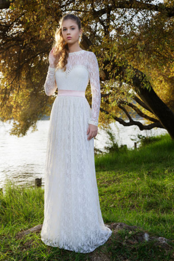 מעולה שמלת כלה מיוחדת ברוח העבר   מרמלדה מרקט - קניות באינטרנט BC-02