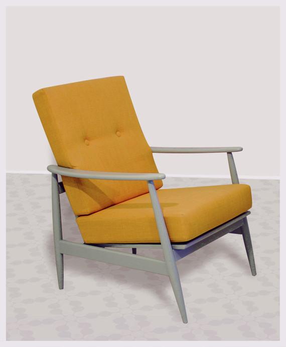 מצטיין זוג כורסאות וינטג' במבצע! באפור-צהוב   מרמלדה מרקט - קניות באינטרנט JB-78